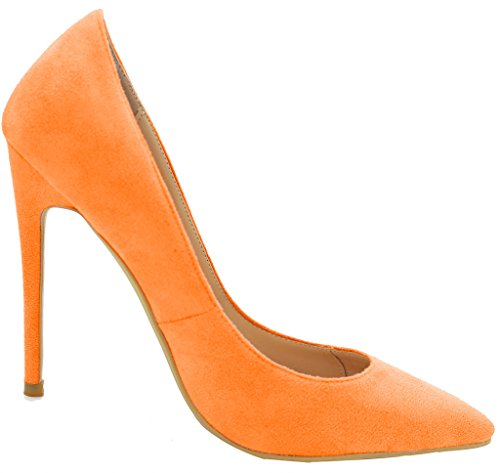 Vaneel Women Shoes 12cm Stiletto Bridal Wedding Prom Designer Sexy Casual Extreme High Heels Ladies 2017 Spring Womens Pumps Large Size Court Shoes Orange Suede JZn8E