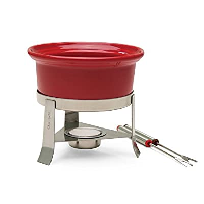Chantal Heart Fondue Set - Red