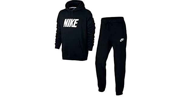 Nike M NSW TRK Suit FLC GX Chándal, Hombre, Negro (Black/White), S ...