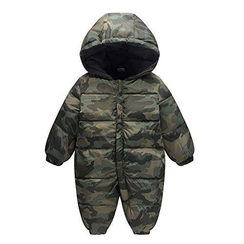 Jumpsuit Hood Thick Girl Winter Romper Fairy Snowsuit Outwear camouflage Boy Baby Infant Warm wnz4P