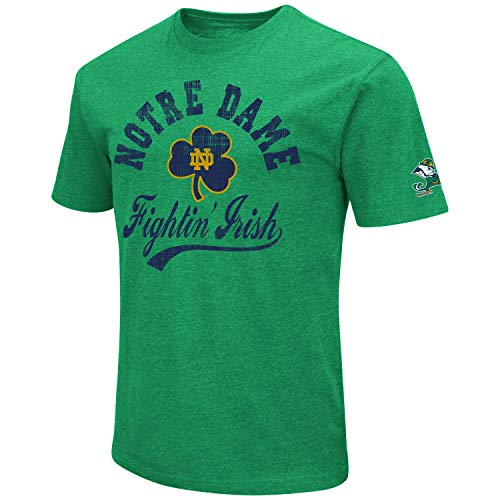 quite nice 13979 6d667 NCAA Colosseum Men s Vintage Dual-Blend T-Shirt with 2 Logos (Notre Dame  Fighting Irish-Kelly Green, Large)