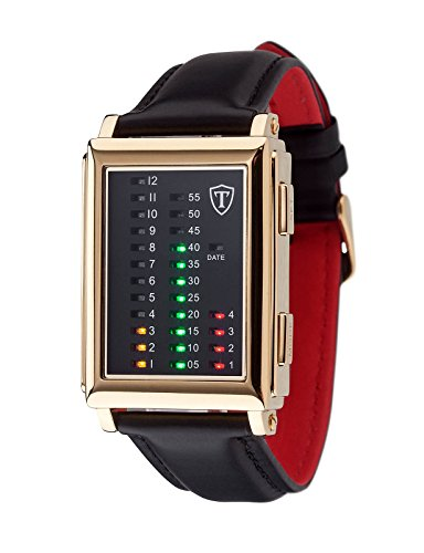 DETOMASO Men's G-30723G SPACY TIMELINE 1 Binary   Trend Schwarz/Schwarz Digital Display Japanese Quartz Black Watch