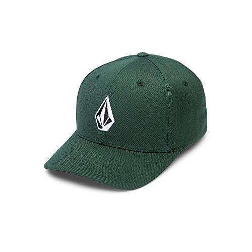 Outlet Flex Pipe (Volcom Men's Full Stone Flexfit Stretch Hat, Dark Green, Small/Medium)
