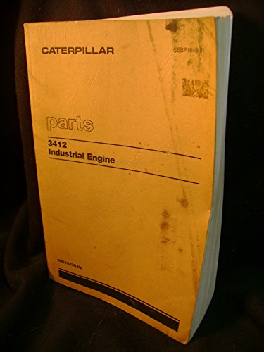 Caterpillar 3412 Industrial Engine Parts Catalog Manual