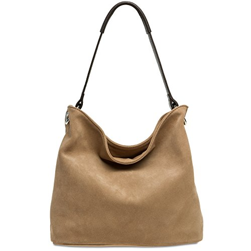 CASPAR Bag made many colours TL580 Body Handbag Shoulder Suede Womens Sand Cross Bag from qpwC1