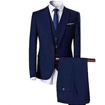 Sliktaa Hommes Formelle Affaires Noir Costumes 2 Pièces 2 Bouton Slim Fit  Notch Lapels De Mariage c6155ca808b