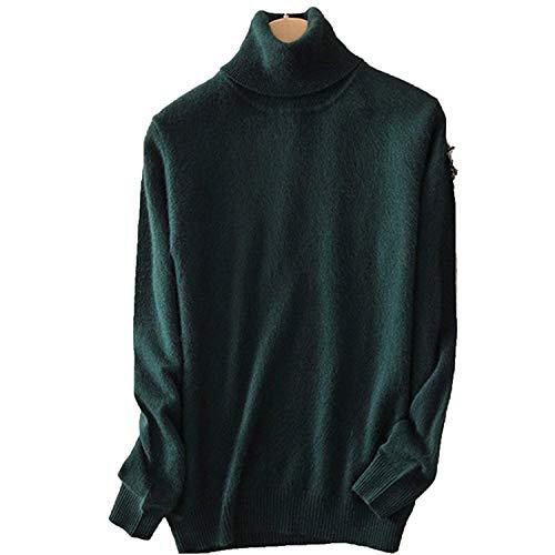 Avory Women Turtleneck Women Knitted Turtleneck Winter Cashmere Sweater,XX-Large,DarkGreen (Cashmere Baby Doll Sweater)