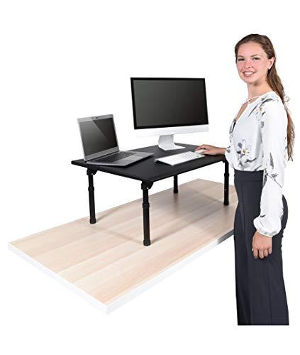 Desktop Standing Desk Converter - Ergonomic Desk Converter Riser Stand for Sit-to-Stand Work