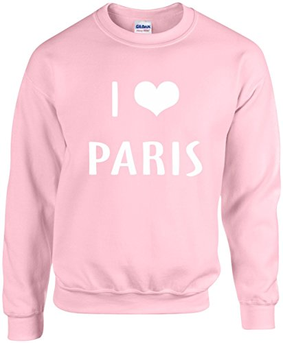 Unisex Funny Crewneck Size M (I LOVE (HEART) PARIS) Sweatshirt