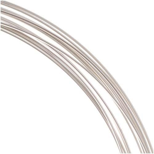 18g Silver Plate Half Round Wire - 4 yds ()