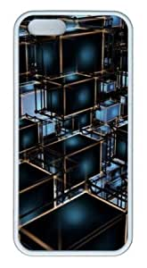 Apple iPhone 5S Case,iPhone 5S Cases - Cubes TPU Custom iPhone 5S Case Cover for iPhone 5S - White