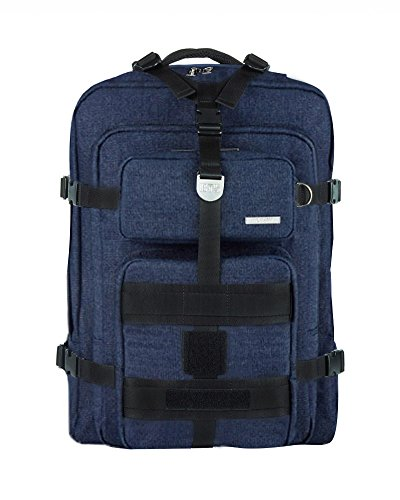 BTS X AGATHA Travel Edition Canvas Backpack Rucksack School College Backpacks for Unisex, Jean - Medium (0.98 cu ft) by BTS