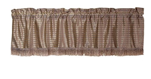 HomeCrate Luxurious Velveteen Vintage Collection Window Valance, in Lilac -