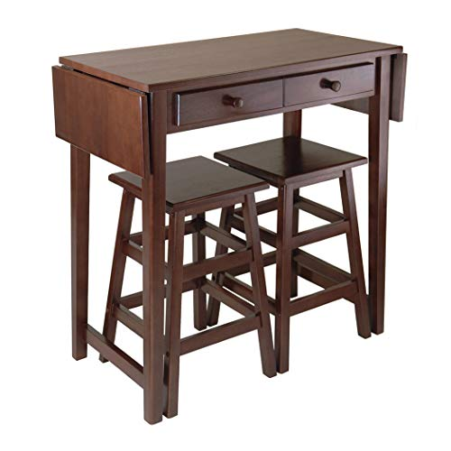- Wood & Style Premium Décor Double Drop Leaf Table with 2 Stools