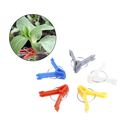 Kagnice 100Pcs Durable Plastic Grafting Clips for Garden Vegetable Flower Plant Tree Vine
