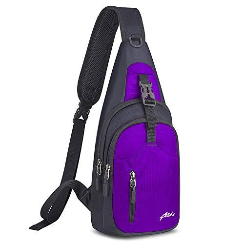 Nylon Purple Travel Wallets - Y&R Direct Sling Bag Sling Backpack,Shoulder Chest Crossbody Bag Purse Nylon Lightweight MulticolorSmall Daypack Outdoor Hiking Camping Travel Women Men Boy Girls Kids Gifts (Dark Purple)