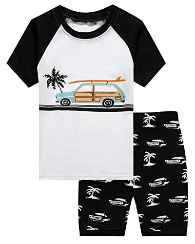 Cars Short Set - Little Boys 2 Piece Short Pajamas Car 100% Cotton Toddler PJS Summer Kids Clothes 24 Months
