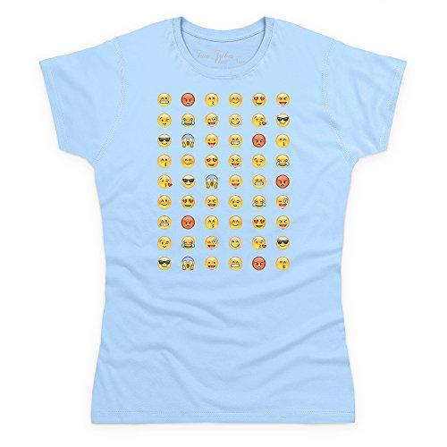 Official Two Tribes Emoji - Emoticons Camiseta, Para mujer Azul celeste