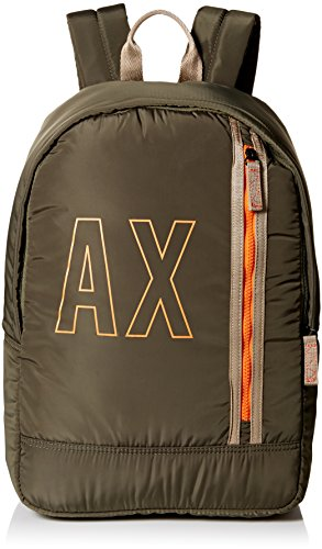 Armani Exchange Men's Smooth Nylon Backpack Accessory, -military green, TU by A|X Armani Exchange
