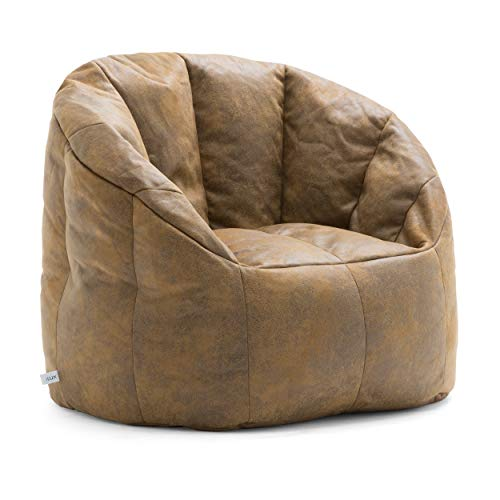 Lux By Big Joe Large Milano In Blazer Bean Bag Multicolor