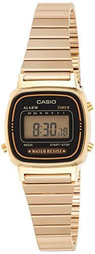 Casio Women's Vintage LA670WGA-1DF Daily Alarm Digital Gold-tone Watch (Casio Woman Digital Watch)