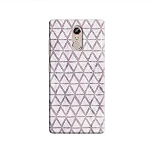 Cover It Up - Triangle Print Purple Gionee S6s Hard Case