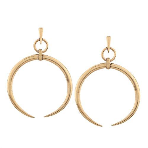 Black Friday Sale GreatFun 1 Pair New Fashion Lady Women Thin Round Big Large Dangle Hoop Loop Earrings Earrings Hooks (Gold)