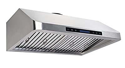 Cycene 30 Inch Professional Series Under Cabinet Stainless Steel Range Hood w/ Baffle Filter @ 900CFM - CY-RH13PS-30