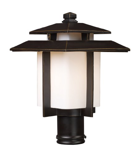 ELK 42173/1 Kanso 1-Light Outdoor Pier Mount In Hazelnut Bronze