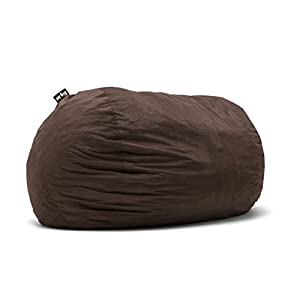 Big Joe 0001656 Fuf Foam Filled Bean Bag Chair, XXL, Cocoa Lenox