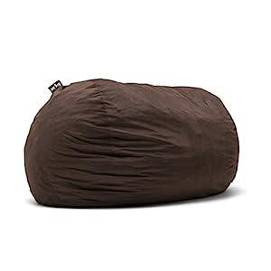 Big Joe 0001656 Fuf Foam Filled Bean Bag Chair, XXL, Cocoa Lenox