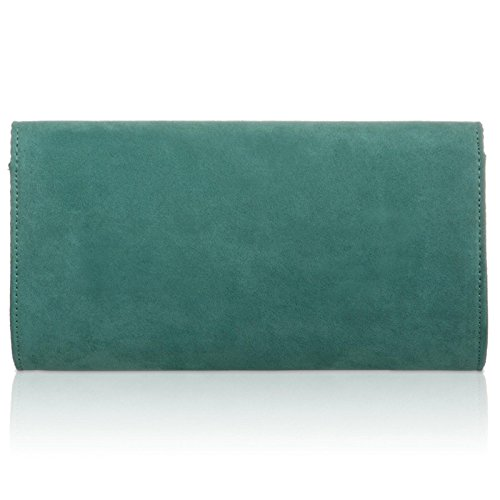 Handbag Baguette Xardi Medium Faux Turquoise Evening London Leather Ladies Clutch Suede Women Envelope 88PSnW1qw