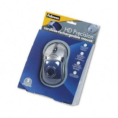 Fellowes - Optical Hd Precision Cordless Gel Mouse Five-Button/Scroll Blue/Sliver ''Product Category: Computer Components & Peripherals/Mice & Trackballs''