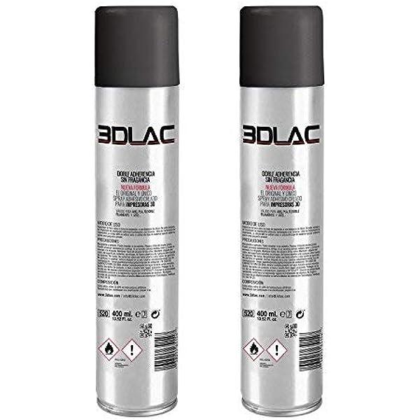 MadridGadgetStore® Pack 2X 3DLAC Laca de Fijación Spray Adhesivo ...