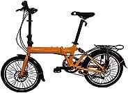 "SOLOROCK 20"" 8 Speed Aluminum Rockies Folding Bike - Rear Suspension Disc B"