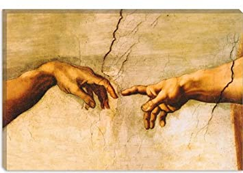 Amazon.com: The Creation of Adam, C.1510 by Michelangelo Canvas ...