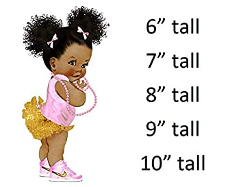 3512131c5e6e7 Ruffle Pants Pink And Gold Sneakers Pearls Vintage Baby Girl Afro ...