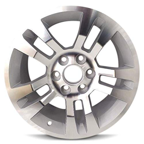 (Road Ready Car Wheel For 2014-2018 Chevy Silverado 1500 2015-2018 Suburban 1500 Tahoe 18 Inch 6 Lug Silver Aluminum Rim Fits R18 Tire - Exact OEM Replacement - Full-Size Spare)