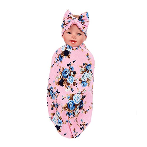 Hollyhorse Newborn Swaddle,Swaddle Cocoon,Blanket&Headband Set (1-3 Pack) (0-3M, Color G1 pack)
