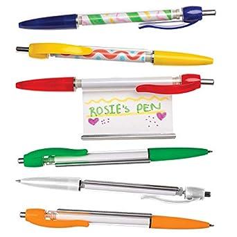 Baker Ross- Bolígrafos para Personalizar (Pack de 6) - Bolígrafos de Colores Variados Decorar y Regalar: Amazon.es: Amazon.es