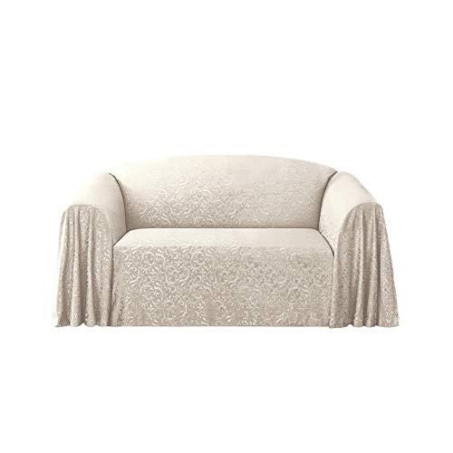 Stylemaster Brianna Jacquard Furniture Throw, Ivory Love Seat