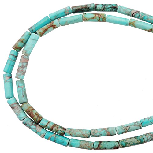 (COIRIS 1 Strand 12x4MM Natural Cylinder Tube Shape Stone Loose Beads Imperial Jasper for Jewelry Making DIY Design (ZS-1174) )