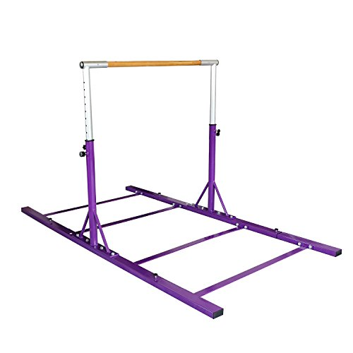 Bestmart INC Gymnastics Expandable Junior Training Bar Adjustable 3' to 5' Model DX Barney Purple