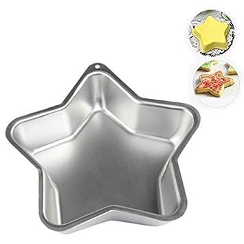 Forma de Estrella de aluminio molde para queso eléctrica antiadherente - molde para tarta, color de plata tamaño 8 x 8 Inch: Amazon.es: Hogar