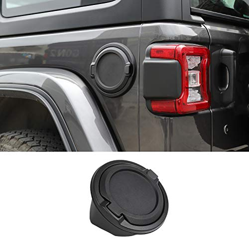 Fuel Filler Door Cover Gas Tank Cap for 2018 Jeep Wrangler JL JLU 2/4 Door ()