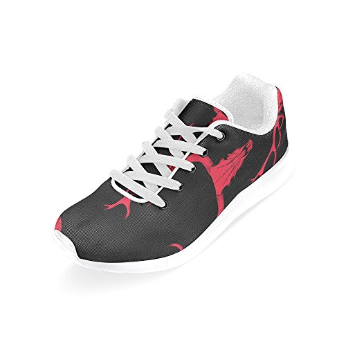 Sports rose Running a Shoes Deer InterestPrint Women Skull for of skull Red 1ESx5wqZ