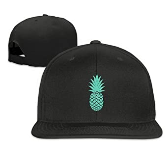 Image Unavailable. Image not available for. Color  LERJIMUX Mint Green  Pineapple Printing Hip Hop Snapback Baseball Caps for Men Women a6a7f62beba4