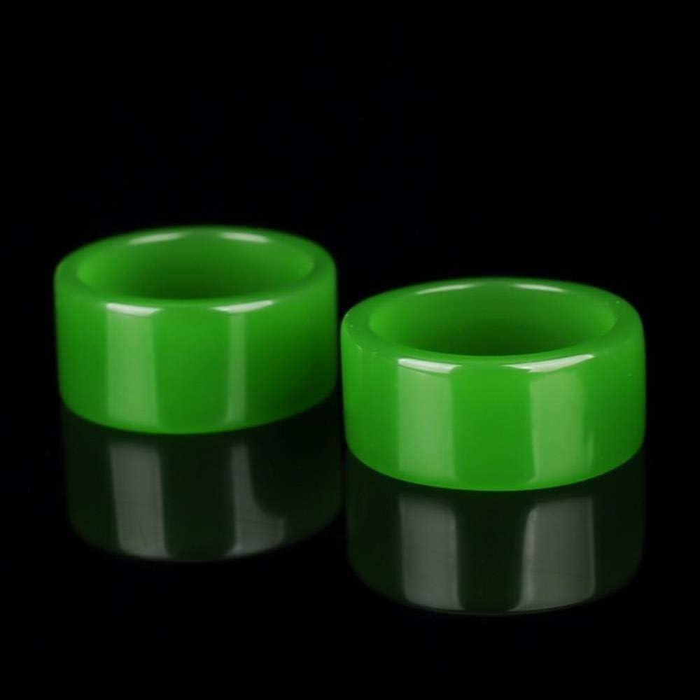 ShAwng El botón Verde Esmeralda del hoyo Birmano se refiere a la Flor Verde Anillo Azul Dedo Grande Anillo de Jade 3001#, Negro