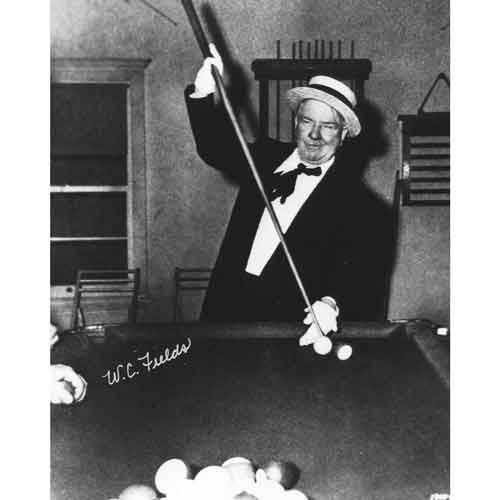 Quality digital print of a vintage photograph - W. C. Fields playing pool. Black & White 8x10 inches - Matte Finish by DS Decor Photos