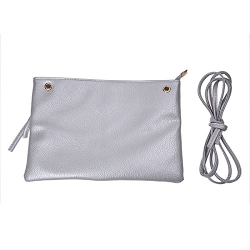 bags R female crossbody zipper Silver shoulder bag small falp the for women£¨Sliver£© leather bag over SODIAL messenger zipper solid bags bags summer women fashion women w7R4tOqOZ